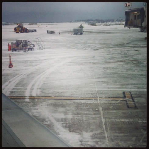 Snow at Milwaukee Airport