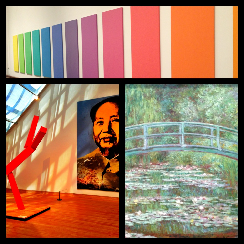 Metropolitan Museum of Art, The Met, Bridge Over a Pond of Water Lilies by Claude Monet, Mao by Andy Warhol, Spectrum V by Ellsworth Kelly