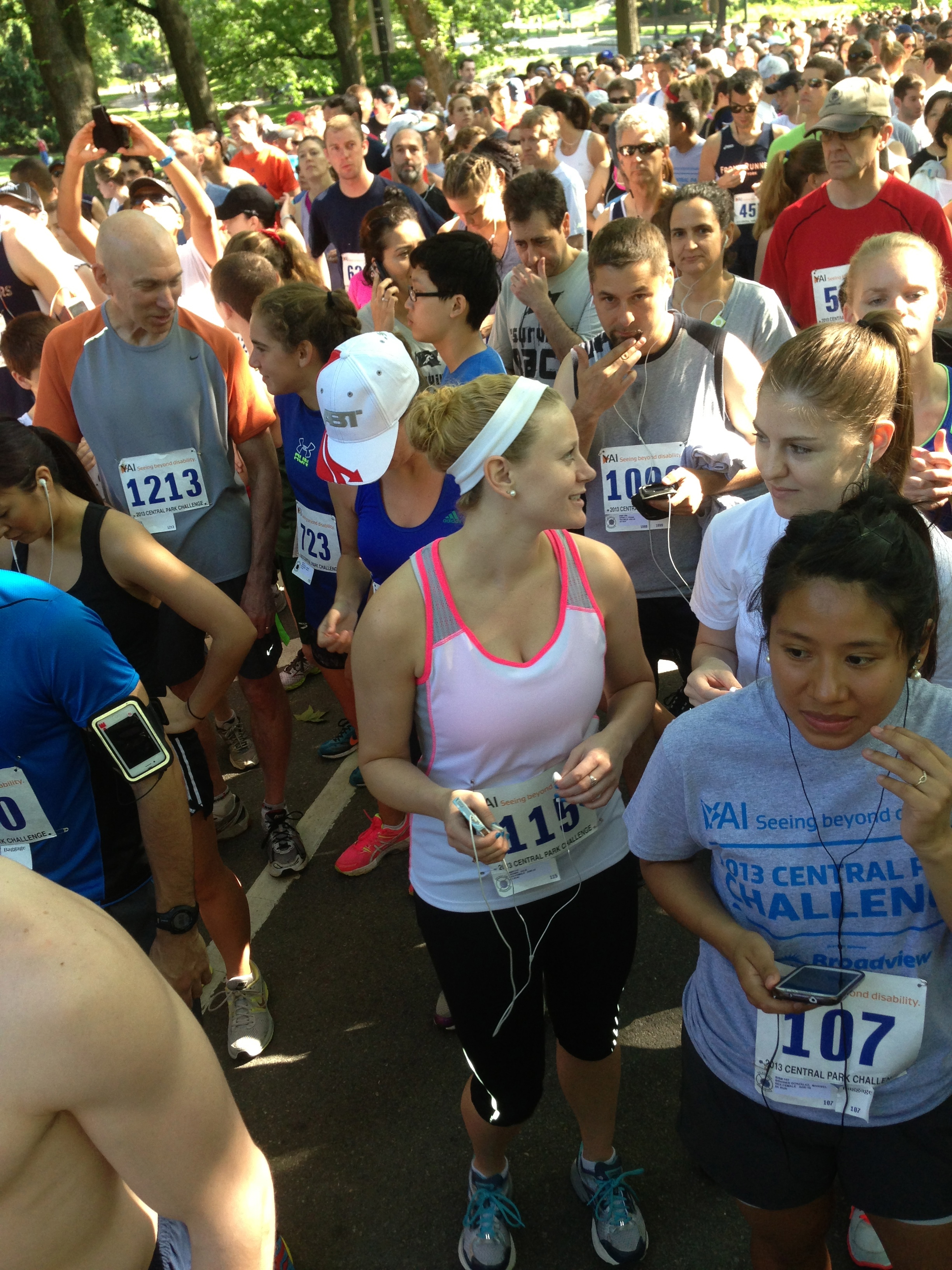 YAI Network Cenral Park Challenge 5K June 2013 in New York