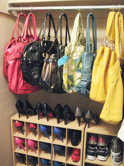 Organizing - Purses in Closet