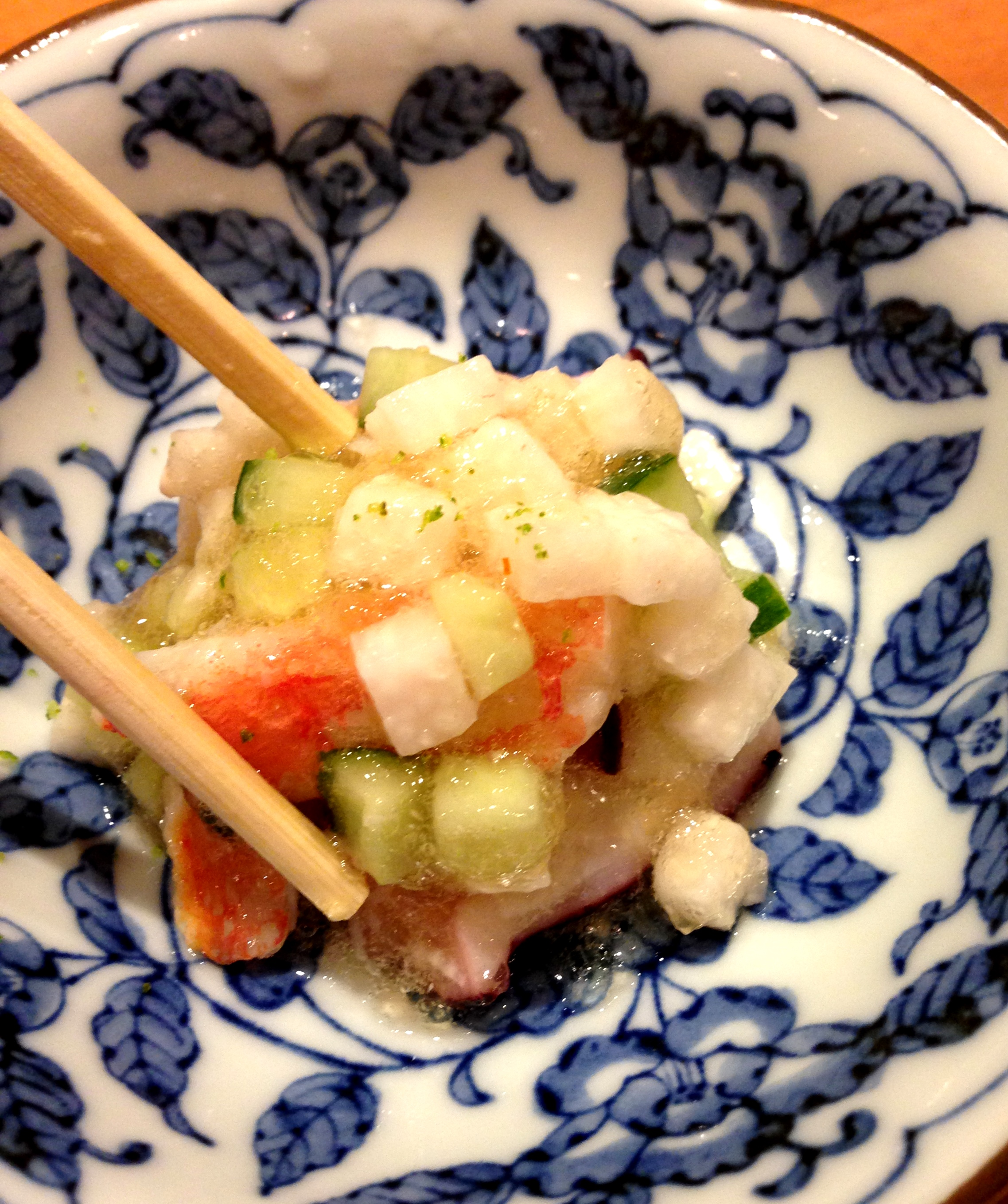 Appetizer Octopus Ceviche at Sushi Dojo in New York