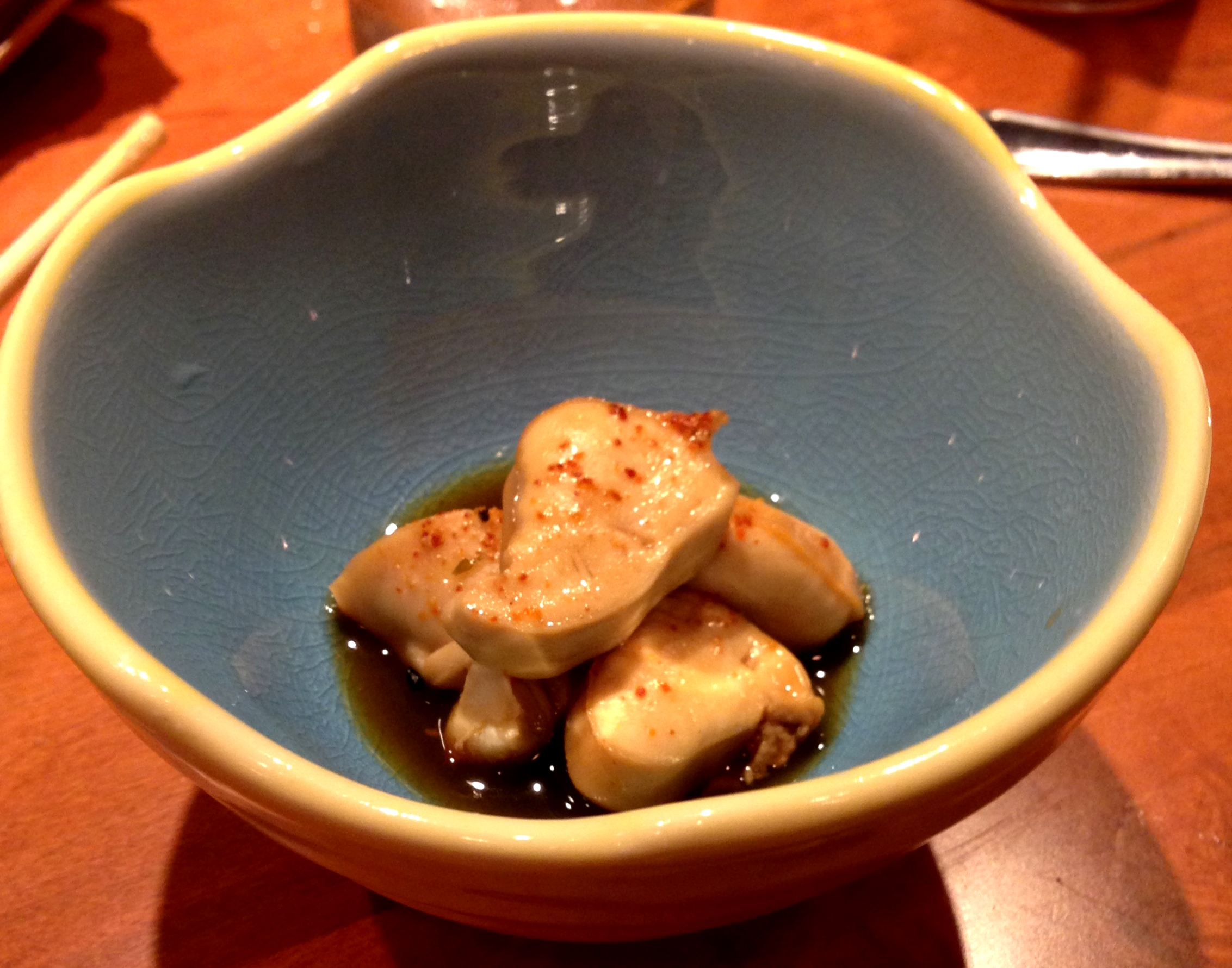 Appetizer Asari Sakamushi at Sushi Dojo in New York